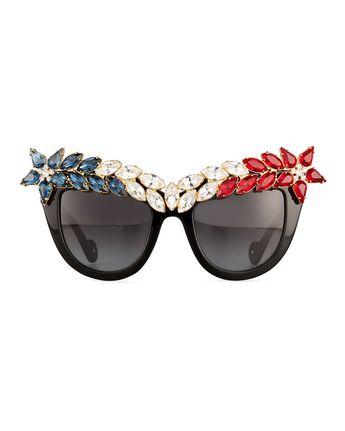 efb56af54a Anna-Karin Karlsson Decadence All American Swarovski  Cat-Eye Sunglasses