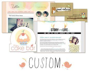 Custom Blog Header Design : Envye, A Design Shop by Wonder Forest