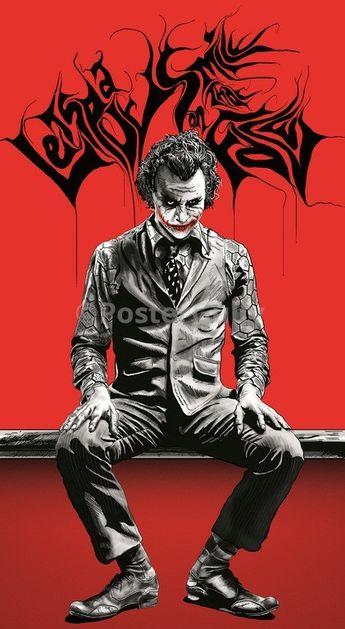The Joker | Red & Black Artwork