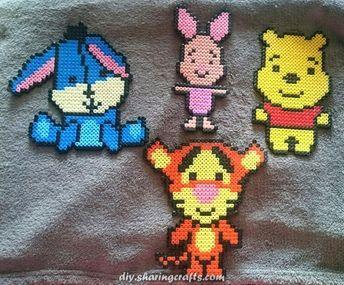 Incredible Winnie the Pooh has a group of hama.  #group #winnie