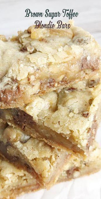 Brown Sugar Toffee Blondie Bars