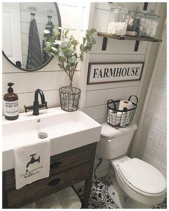 57 farmhouse bathroom organization ideas 29