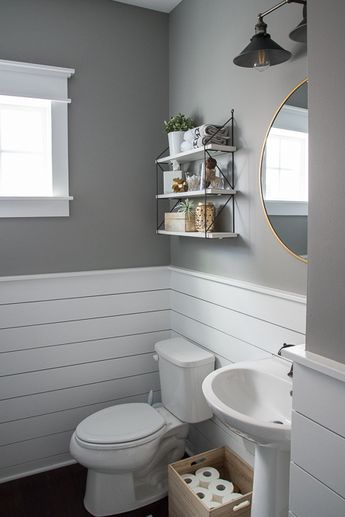 Fresh & Modern Powder Room Reveal