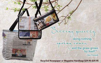 Recycled Newspaper and Magazine Handbags