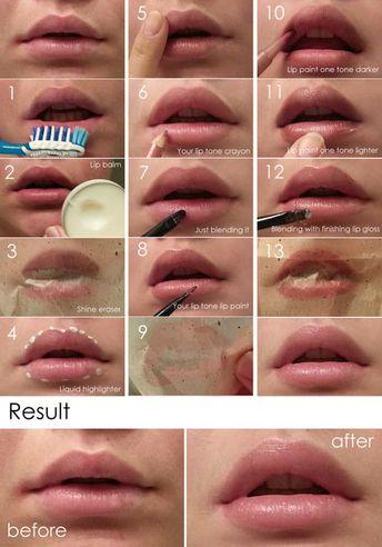 15 Best Lip Makeup Tutorials That You Should Try Out  makeup ideas lips - Makeup Ideas #Makeup #Out #MakeupIdeas