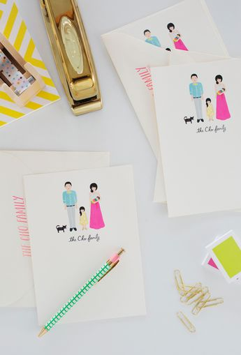 Oh Joy Family Portrait / Thank You Card by Rifle Paper Co.