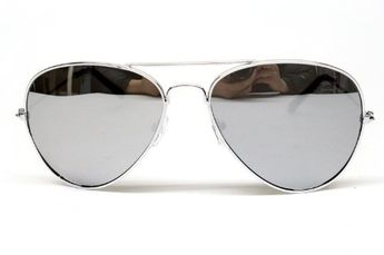 ee66cd846d Aviator Pilot Vintage Retro Sunglasses Mens Womens Silver Mirrored A04  Style Vault.  4.95. Size