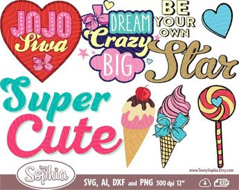 JoJo Siwa inspired birthday  svg,  png, and  dxf cut and/o