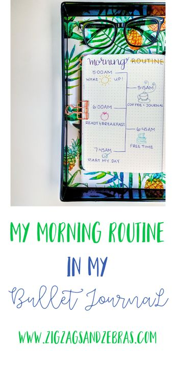 2019 Morning Routine in my Bullet Journal