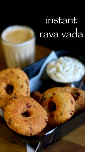 rava vada recipe | instant sooji vada recipe | instant medu vada recipe with step by step photo and video recipe. there are several variations to vada recipe which varies with the ingredients like urad dal, potato, sabudana and toor dal, channa dal, mung dal. rava vada is one such crispy fritter recipe variety from the palette of vade series. it is popularly served by dipping it in lentil sambar and topped with coconut chutney.