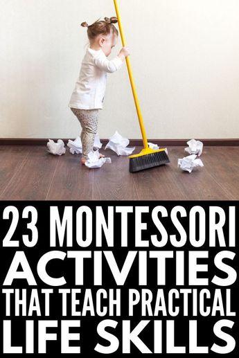 Helping Kids Grow: 23 Montessori Practical Life Activities We Love