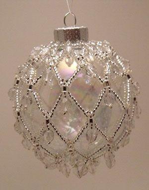 seed bead christmas ball ornament - Google Search