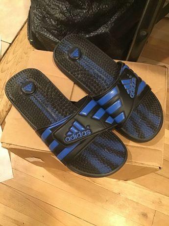 fcb0d09da57 Adidas Slides Mens Size 6 Black with Blue Logo  fashion  clothing  shoes
