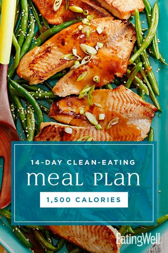 The meals and snacks in this plan will have you feeling energized, satisfied and good about what's on your plate. And at 1,500 calories, this diet meal plan will set you up to lose upwards of 4 pounds over the 2 weeks. #mealplan #mealprep #healthymealplans #mealplanning #howtomealplan #mealplanningguide #mealplanideas #recipe #eatingwell #healthy