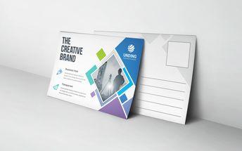 Neptune Professional Stylish Postcard Template - Graphic Templates