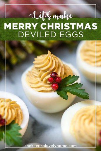 Merry Little Christmas Deviled Eggs