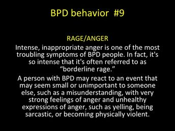 BPD behavior - RECKLESS SEX/PROMISCUITY