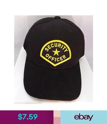 d773b2922ac SECURITY Officer Guard Patch Baseball Hat Cap Black Adjustable Biker CAP -0004
