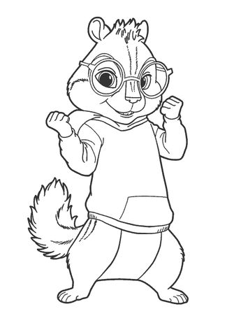 Top 25 Free Printable Alvin And The Chipmunks Coloring Pag
