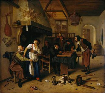 In the tavern - 1660, Jan Steen