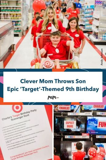 Clever Mom Goes Way Over The Top And Throws Son Epic 'Target' Themed 9th Birthday