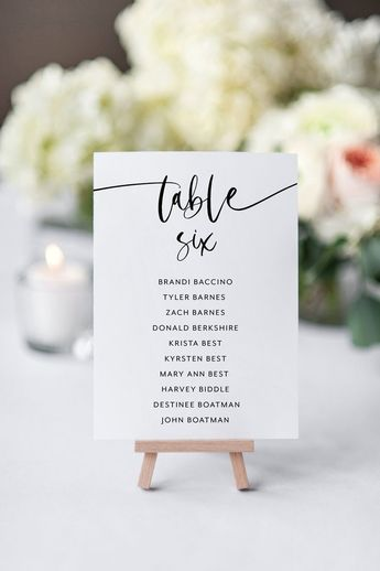Wedding Seating Chart Template Printable Seating Sign Seating Cards Editable Text INSTANT DOWNLOAD Minimalist  - Kathy