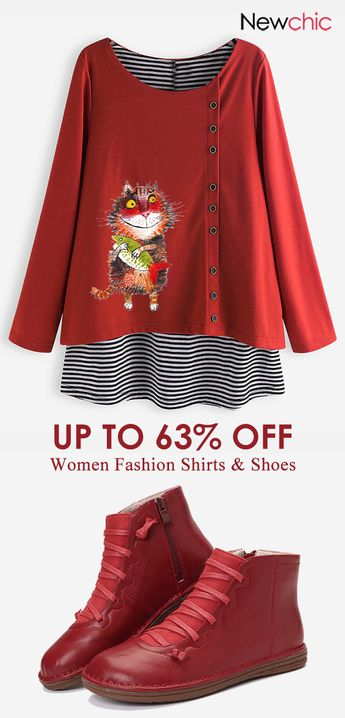 women fashion shirts & shoes. #casualboots #womenshirts