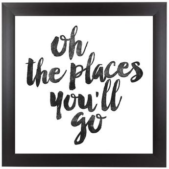 'Oh the Places You'll Go' Framed Textual Art