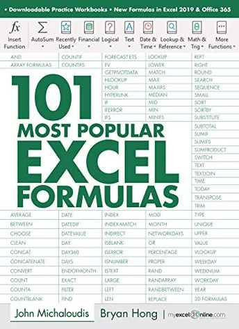 March 10, 2019 | English | ASIN: B07PGBJYLS | 491 pages | EPUB | 9.59 MB Learn the Most Popular Excel Formulas Ever: VLOOKUP, IF, SUMIF, INDEX/MATCH, COUNT, SUMPRODUCT plus Many More!With this book, you'll learn to apply the must know Excel Formulas