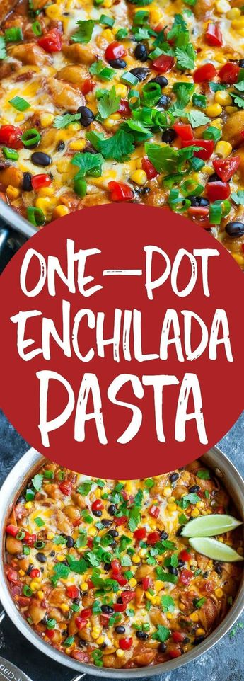 Healthy One-Pot Enchilada Pasta