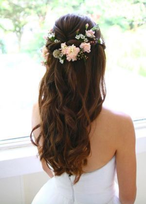 awesome Coiffure mariage : Love the half up look... awesome Coiffure mari