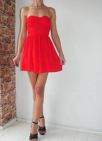 a12bb42ca0b198 Rave sukienka czerwona gorsetowa mini 36 - vinted.pl