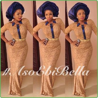 a90cea9f966f2 Black lace Iro and Buba with blue lining, Pink Gele ~ Afric