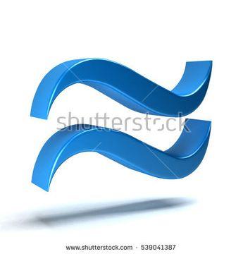 Approximately Equal Math Symbol. 3D Rendering Illustration
