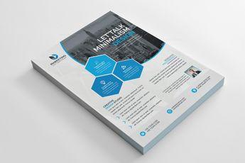 PSD Geometric Business Flyer Templates 002840 - Template Catalog