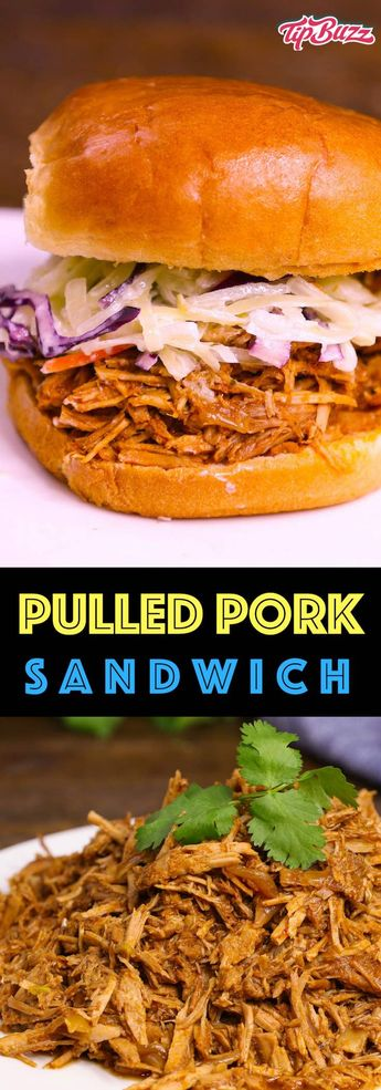 Pulled Pork Sandwich made with juicy and flavorful pork shoulder roast, smothered in a smoky and sweet barbecue sauce. Serve it on your favorite buns with coleslaw for an unforgettable meal!