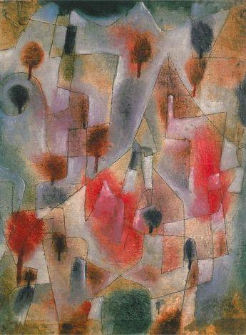 Landschaft mit Blauen und Roten Bäumen, 1920