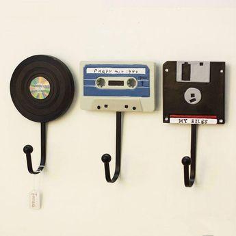 Tape Record Wall Hooks