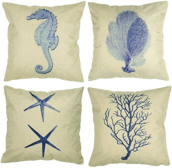 Nautical Themed Seaside Cushion Covers