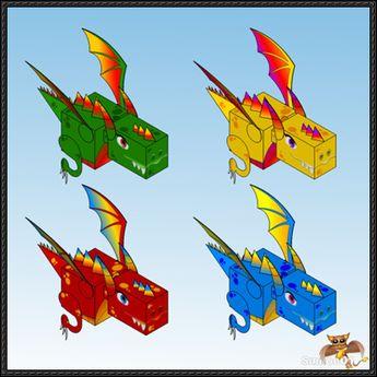 Kuboid Dragon Free Paper Toys Download