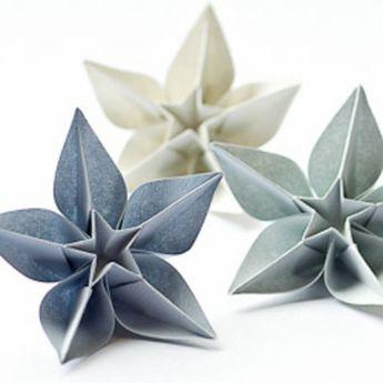 Un origami facile fleur - à offrir ou pour vous amuser tout en créant de belles choses! - Archzine.fr