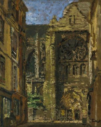 Walter Sickert - Rue Pecquet, towards St Jacques, Dieppe
