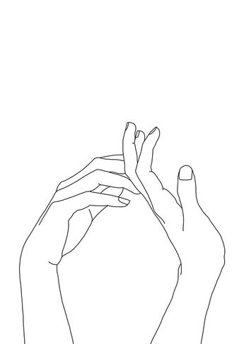 Woman's hands line drawing - Abi | Poster