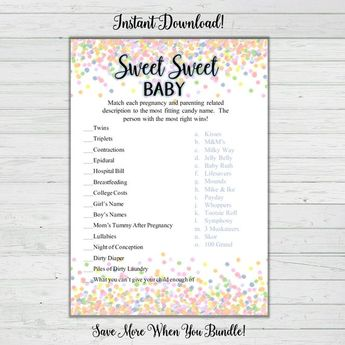 Baby Song Baby Shower Game Mint And Gold Stars Baby Sh