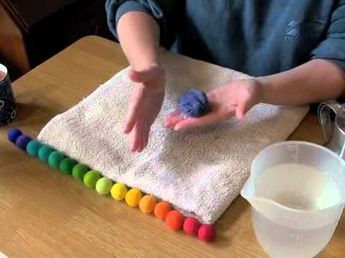 How to make felt balls with Rachael Greenland - YouTube