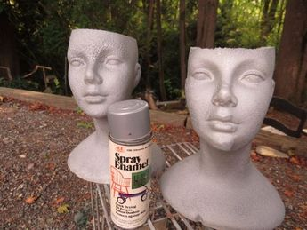 Turn a Styrofoam Wig Head into a Chic Planter