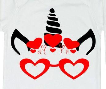 Valentines Day Unicorn Svg Tecstar