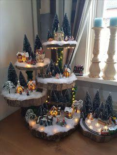 Haz indas villas navideñas para decorar tu casa en navidad