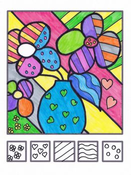 Coloriage Fleur Britto.This Watercolor And Black Glue Butterfly Craft Makes A Bea