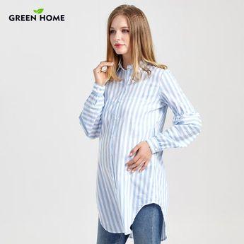 2bd90c19b6710 Bubble Sleeve Striped Maternity Top | Lollabuy